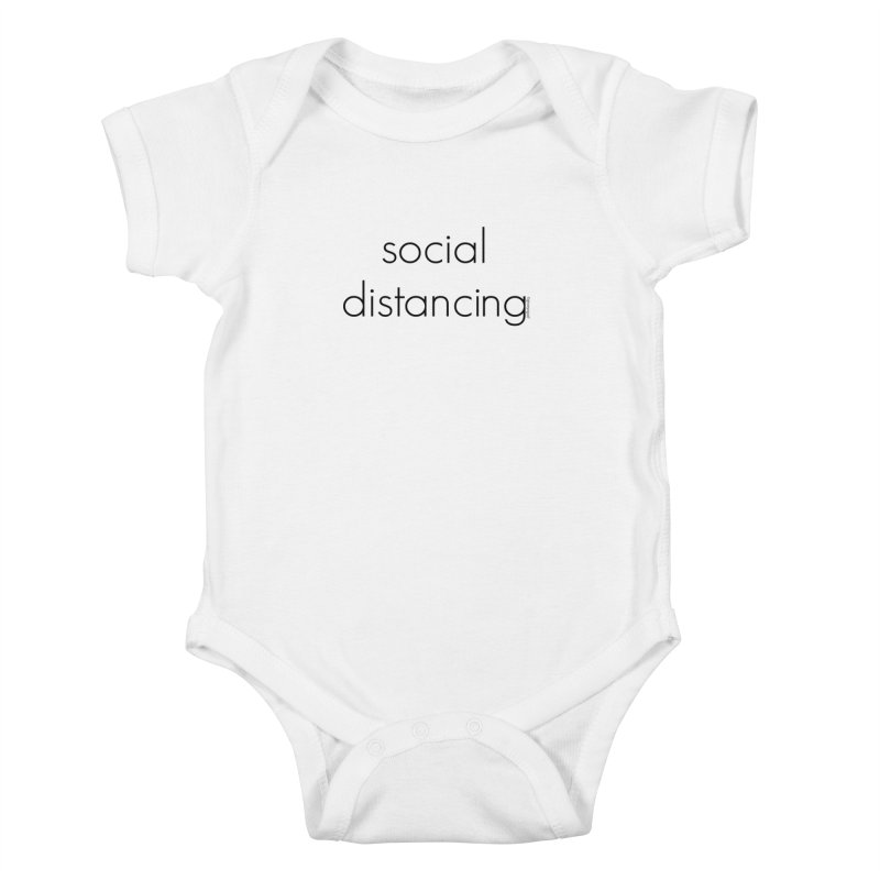 Social Distancing B Kids Baby Bodysuit by Glow-Getters Store