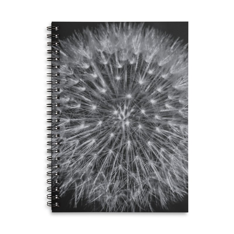 Dandelion Accessories Lined Spiral Notebook by Gerónimo Martín Alonso Photography