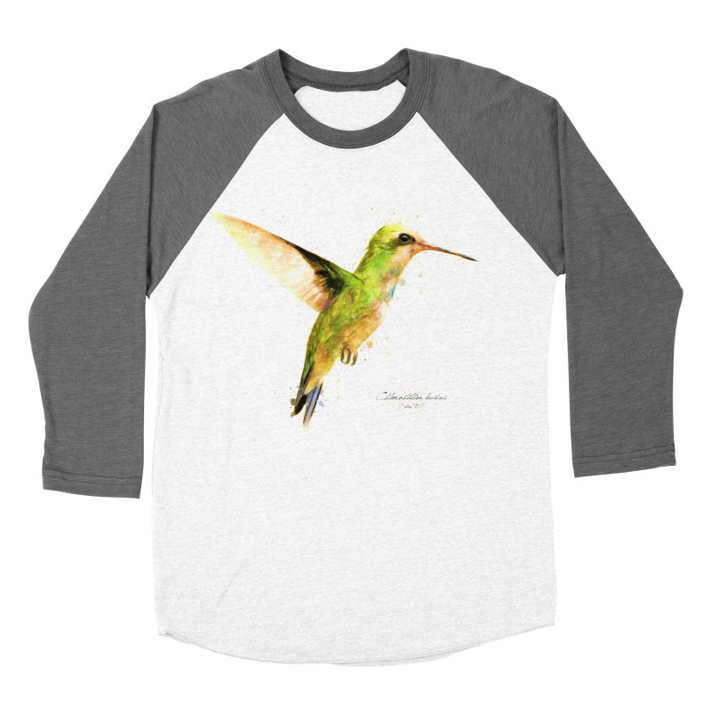 Hummingbird I Women's Baseball Triblend Longsleeve T-Shirt by Gerónimo Martín Alonso Photography