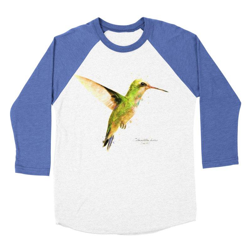 Hummingbird I Men's Baseball Triblend Longsleeve T-Shirt by Gerónimo Martín Alonso Photography