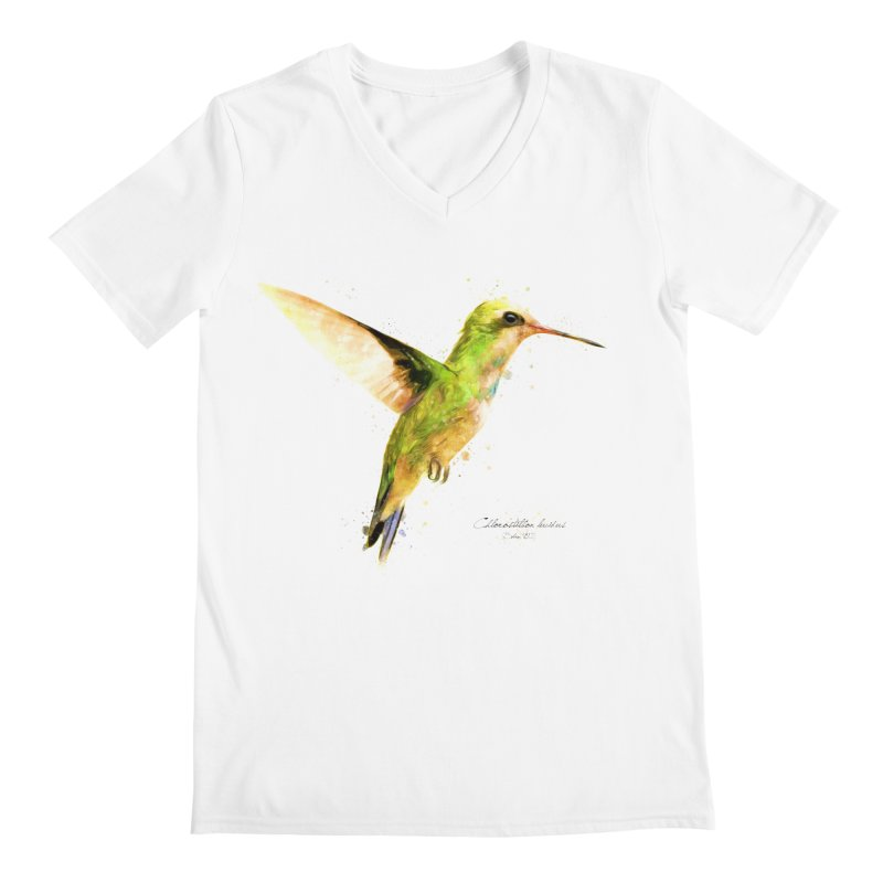 Hummingbird I Men's Regular V-Neck by Gerónimo Martín Alonso Photography