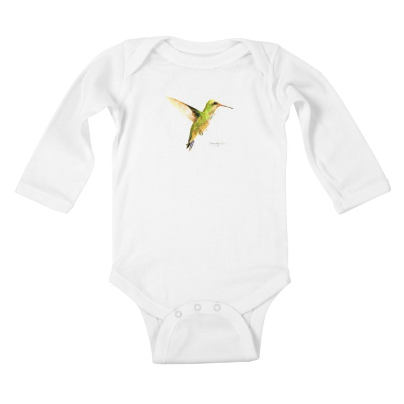 Hummingbird I Kids Baby Longsleeve Bodysuit by Gerónimo Martín Alonso Photography