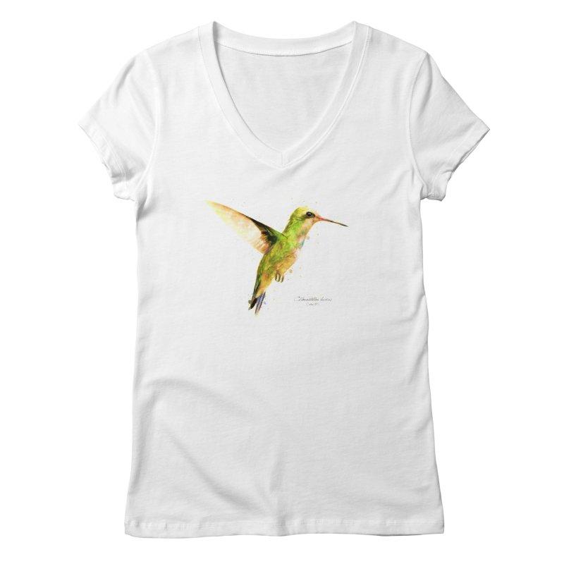 Hummingbird I Women's V-Neck by Gerónimo Martín Alonso Photography