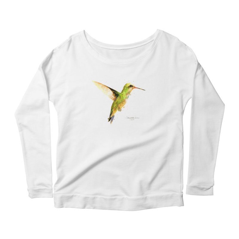 Hummingbird I Women's Scoop Neck Longsleeve T-Shirt by Gerónimo Martín Alonso Photography