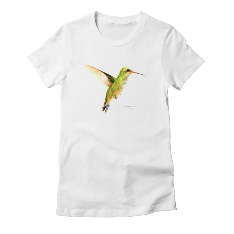 Hummingbird I Women's Fitted T-Shirt by Gerónimo Martín Alonso Photography