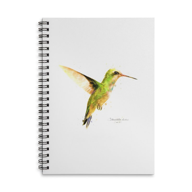 Hummingbird I Accessories Lined Spiral Notebook by Gerónimo Martín Alonso Photography