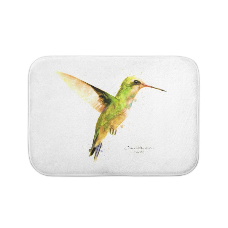 Hummingbird I Home Bath Mat by Gerónimo Martín Alonso Photography
