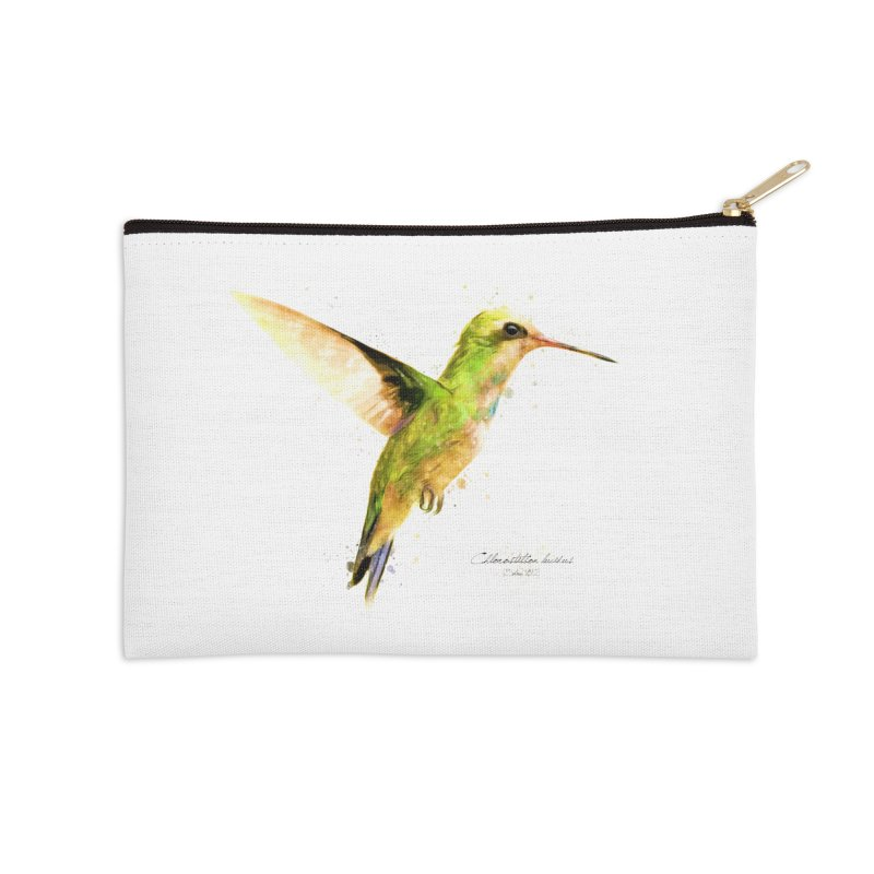 Hummingbird I Accessories Zip Pouch by Gerónimo Martín Alonso Photography