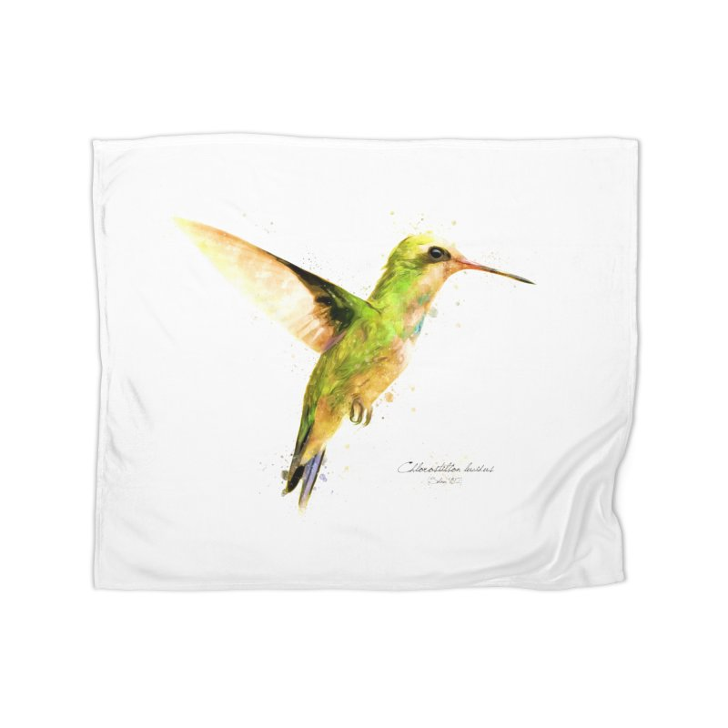 Hummingbird I Home Fleece Blanket Blanket by Gerónimo Martín Alonso Photography
