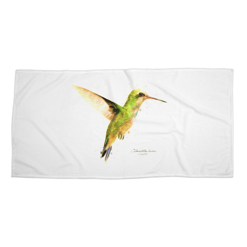Hummingbird I Accessories Beach Towel by Gerónimo Martín Alonso Photography