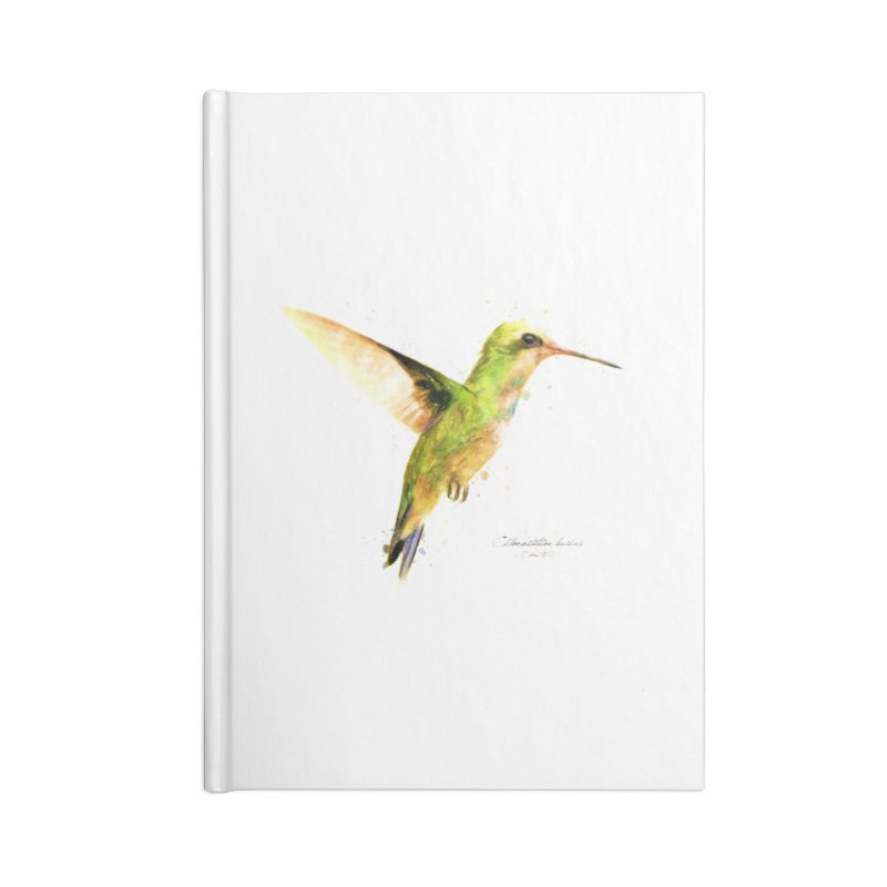 Hummingbird I Accessories Lined Journal Notebook by Gerónimo Martín Alonso Photography