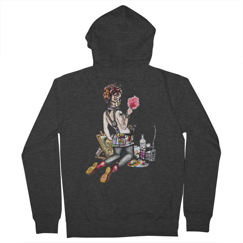 Artsy Pinup  Men's Zip-Up Hoody by gnarlyart's Artist Shop
