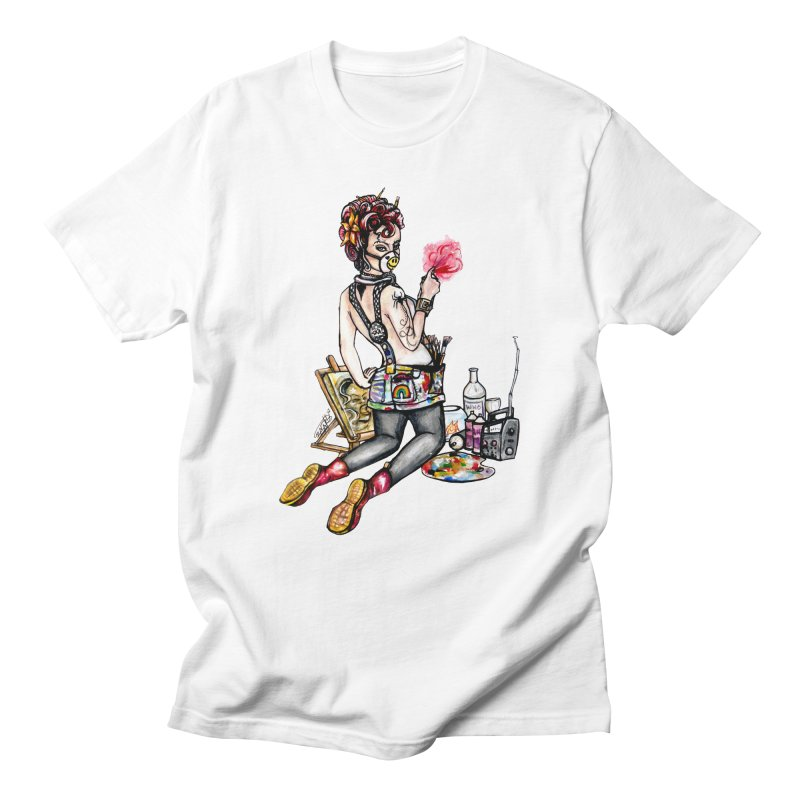 Artsy Pinup  Men's T-shirt by gnarlyart's Artist Shop