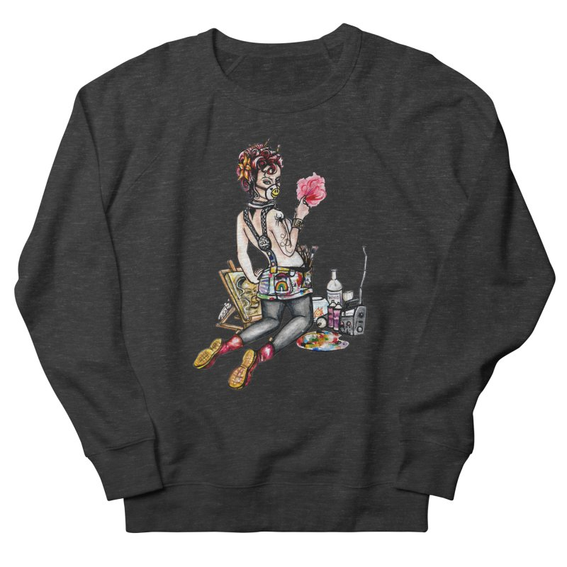 Artsy Pinup  Men's Sweatshirt by gnarlyart's Artist Shop