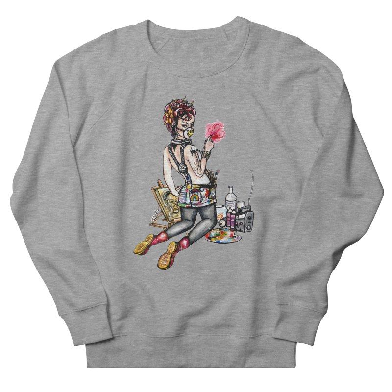 Artsy Pinup  Men's Sweatshirt by gnarlyart's Artist Shop