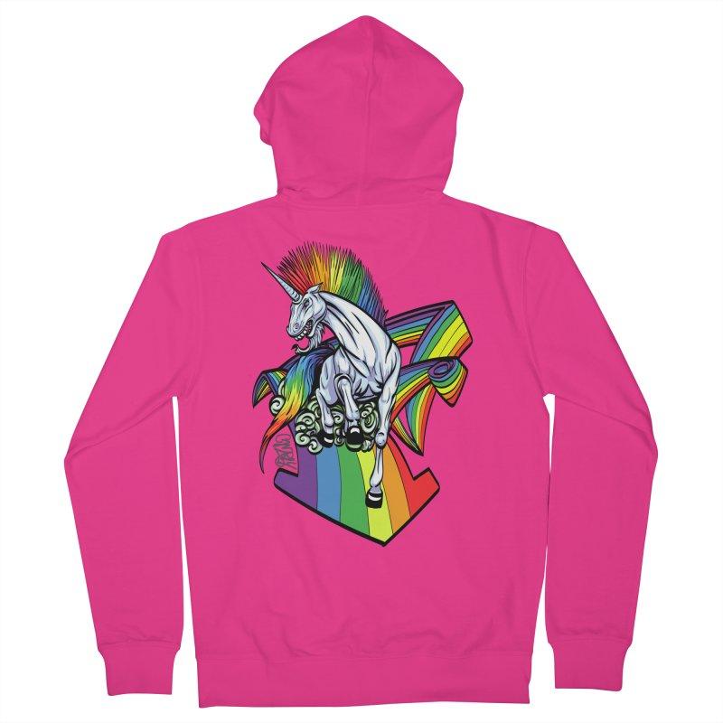 RainbowConnection Men's Zip-Up Hoody by gnarlyart's Artist Shop