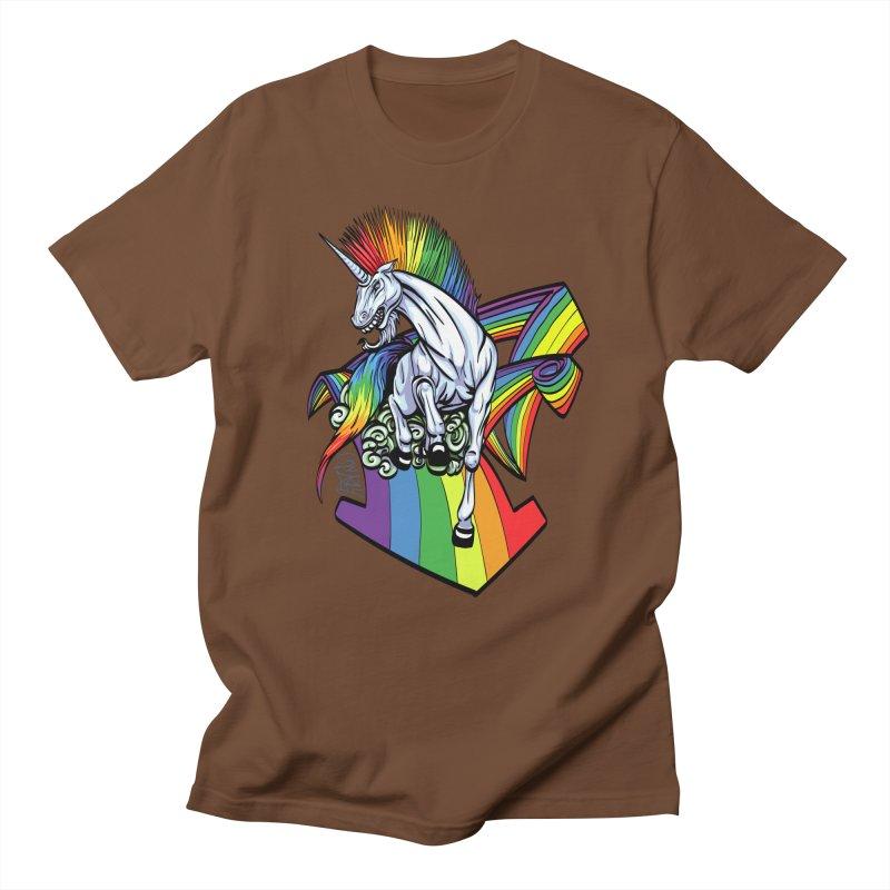 RainbowConnection Men's T-shirt by gnarlyart's Artist Shop