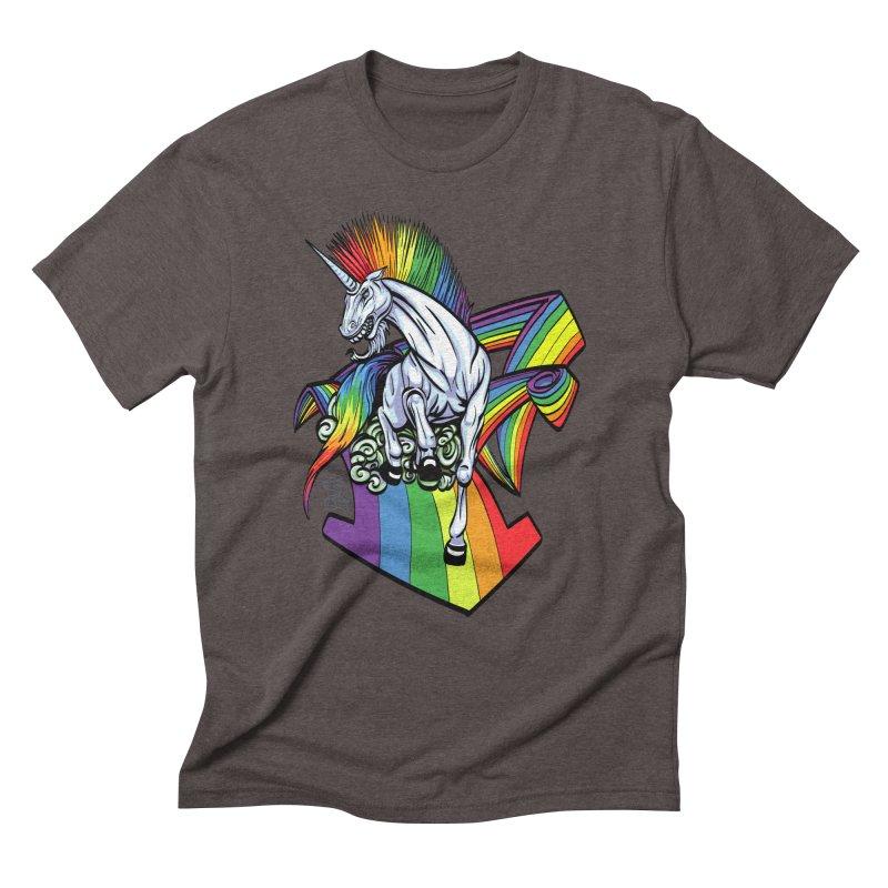 RainbowConnection Men's Triblend T-Shirt by gnarlyart's Artist Shop