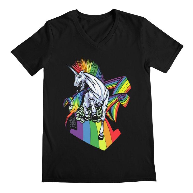 RainbowConnection Men's V-Neck by gnarlyart's Artist Shop