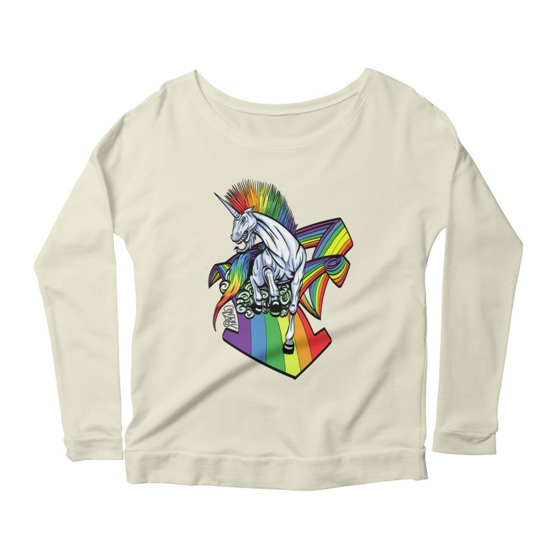 RainbowConnection Women's Longsleeve Scoopneck  by gnarlyart's Artist Shop