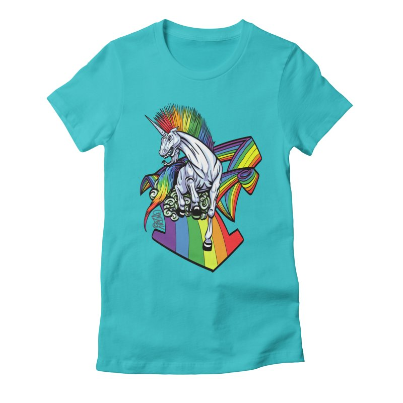 RainbowConnection Women's Fitted T-Shirt by gnarlyart's Artist Shop