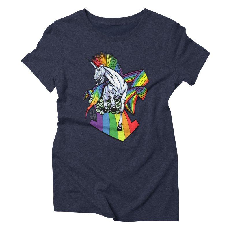 RainbowConnection Women's Triblend T-Shirt by gnarlyart's Artist Shop