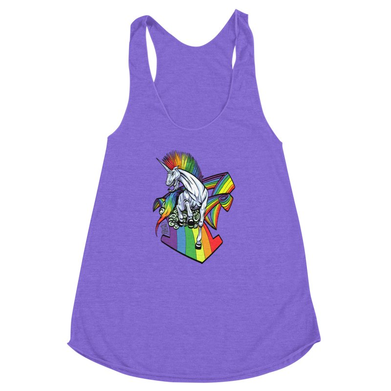 RainbowConnection Women's Racerback Triblend Tank by gnarlyart's Artist Shop