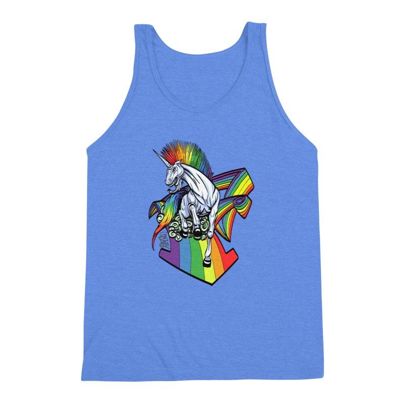 RainbowConnection Men's Triblend Tank by gnarlyart's Artist Shop