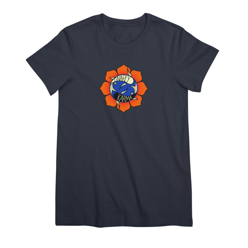 Gnarly Logo on Everyday Shirts Women's Premium T-Shirt by Gnarly Karma's Merch Shop
