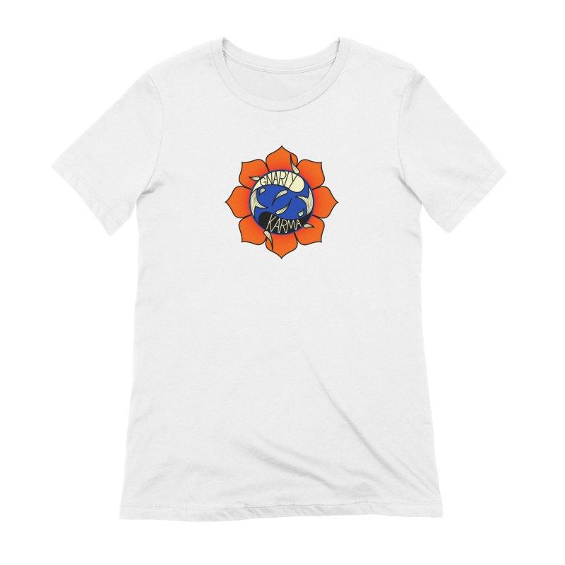 Gnarly Logo on Everyday Shirts Women's Extra Soft T-Shirt by Gnarly Karma's Merch Shop