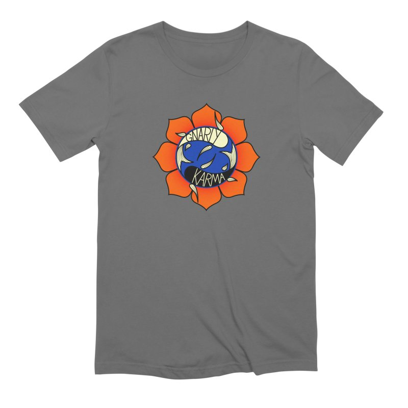 Gnarly Logo on Everyday Shirts Men's Extra Soft T-Shirt by Gnarly Karma's Merch Shop