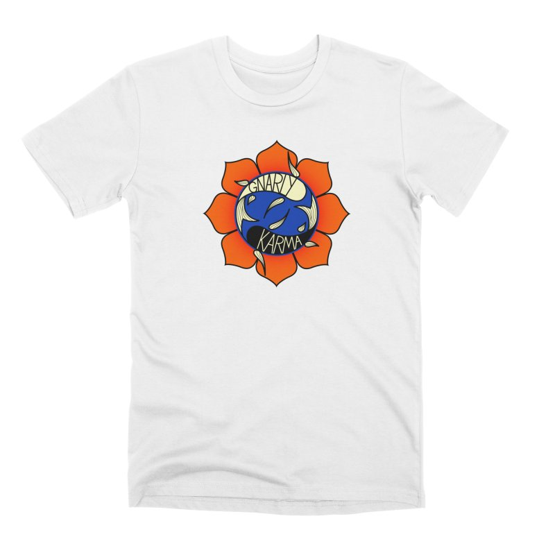 Gnarly Logo on Everyday Shirts Men's Premium T-Shirt by Gnarly Karma's Merch Shop