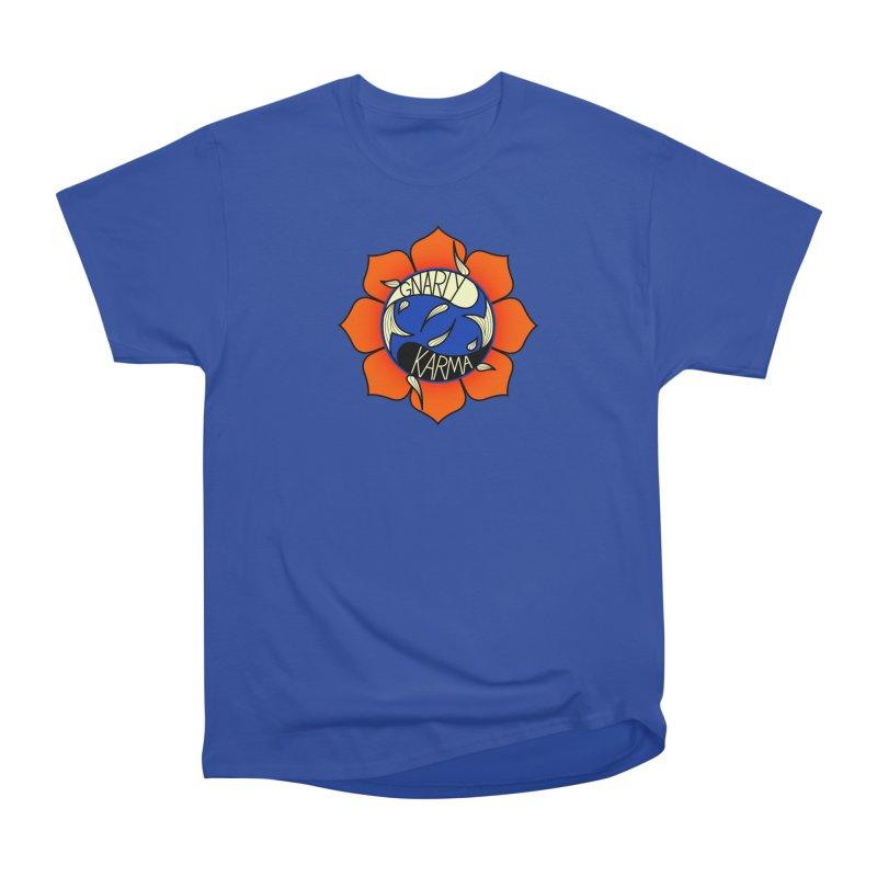 Gnarly Logo on Everyday Shirts Women's Heavyweight Unisex T-Shirt by Gnarly Karma's Merch Shop