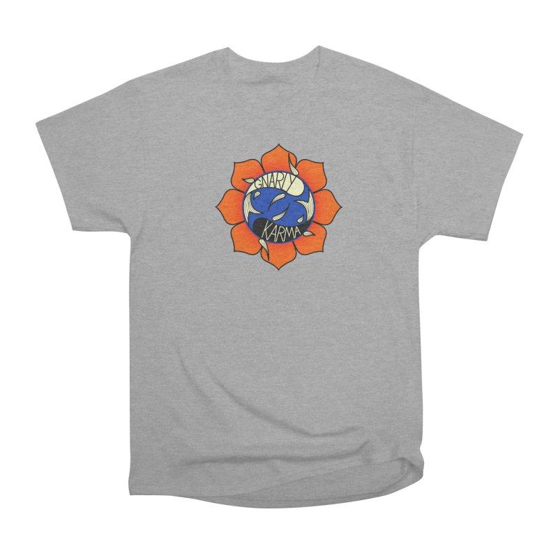 Gnarly Logo on Everyday Shirts Men's Heavyweight T-Shirt by Gnarly Karma's Merch Shop