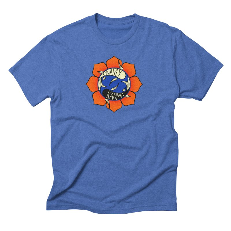 Gnarly Logo on Everyday Shirts Men's Triblend T-Shirt by Gnarly Karma's Merch Shop