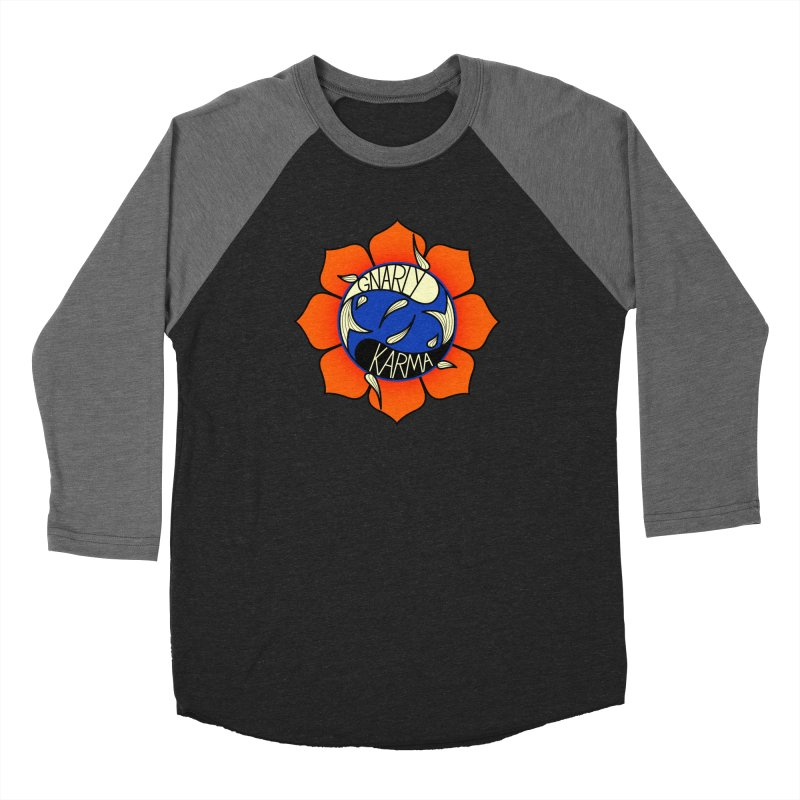 Gnarly Logo on Everyday Shirts Women's Baseball Triblend Longsleeve T-Shirt by Gnarly Karma's Merch Shop
