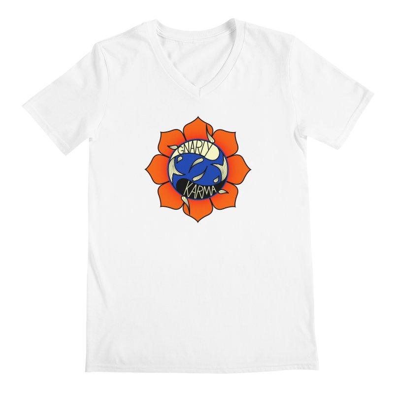 Gnarly Logo on Everyday Shirts Men's Regular V-Neck by Gnarly Karma's Merch Shop