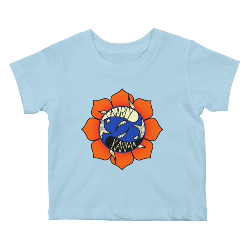 Gnarly Logo on Everyday Shirts Kids Baby T-Shirt by Gnarly Karma's Merch Shop