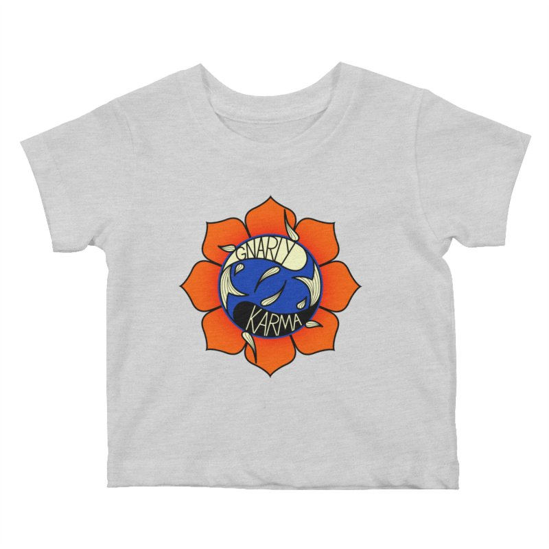 Gnarly Logo on Everyday Shirts Kids Baby T-Shirt by Gnarly Karma's Merch Shop