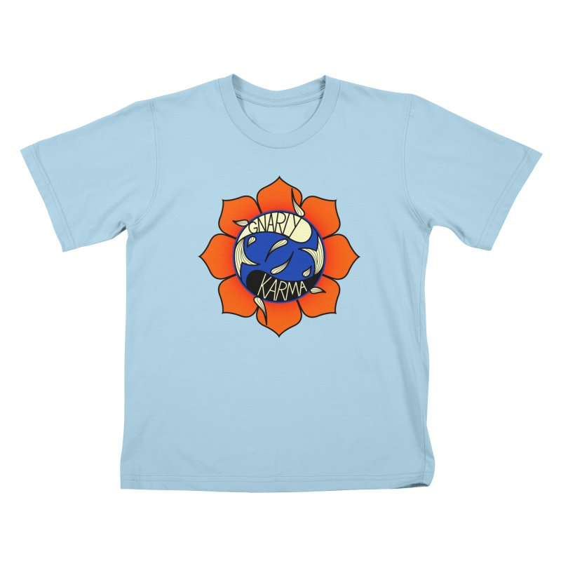 Gnarly Logo on Everyday Shirts Kids T-Shirt by Gnarly Karma's Merch Shop