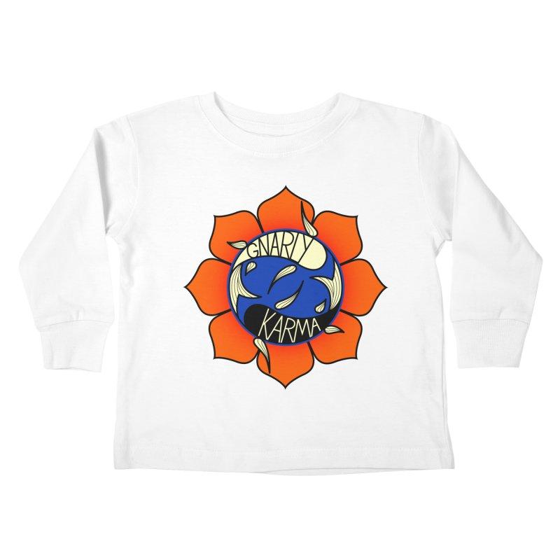 Gnarly Logo on Everyday Shirts Kids Toddler Longsleeve T-Shirt by Gnarly Karma's Merch Shop