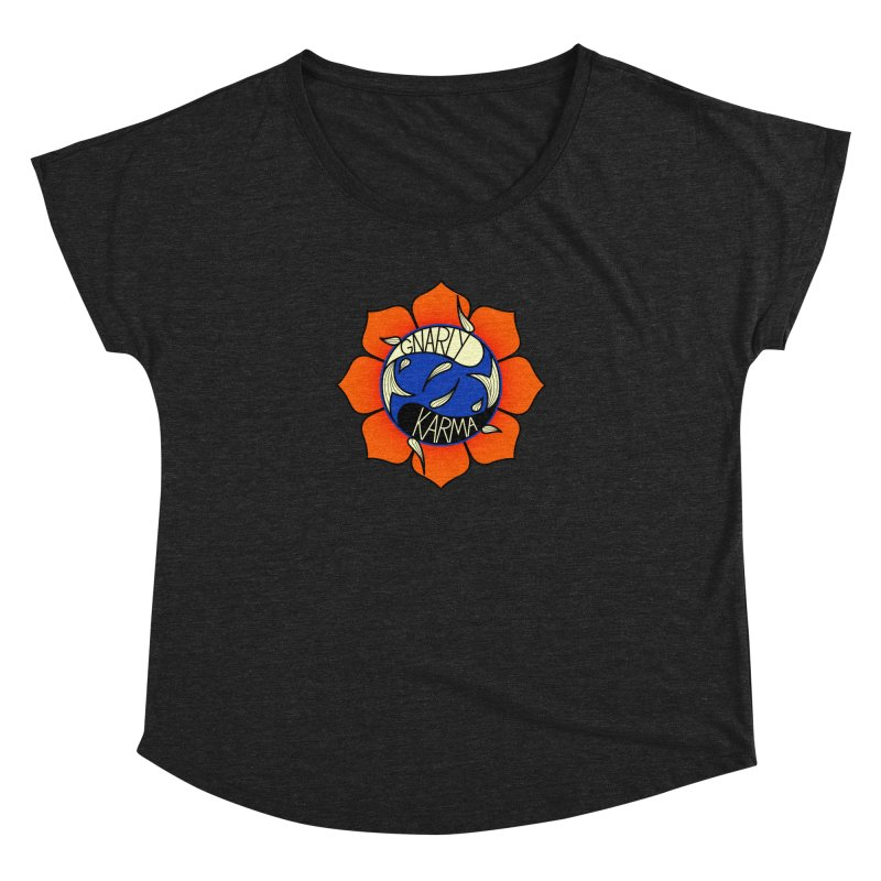 Gnarly Logo on Everyday Shirts Women's Dolman Scoop Neck by Gnarly Karma's Merch Shop