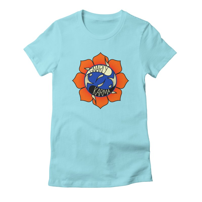 Gnarly Logo on Everyday Shirts Women's Fitted T-Shirt by Gnarly Karma's Merch Shop