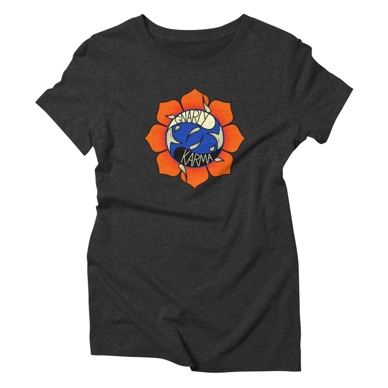 Gnarly Logo on Everyday Shirts Women's Triblend T-Shirt by Gnarly Karma's Merch Shop