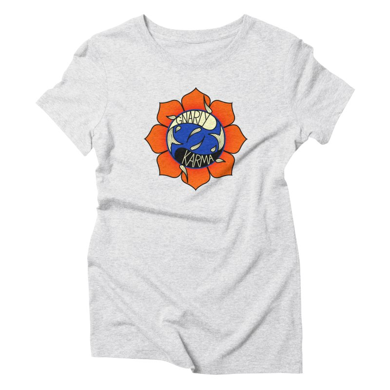 Gnarly Logo on Everyday Shirts Women's Triblend T-Shirt by Gnarly Karma's Merch Shop
