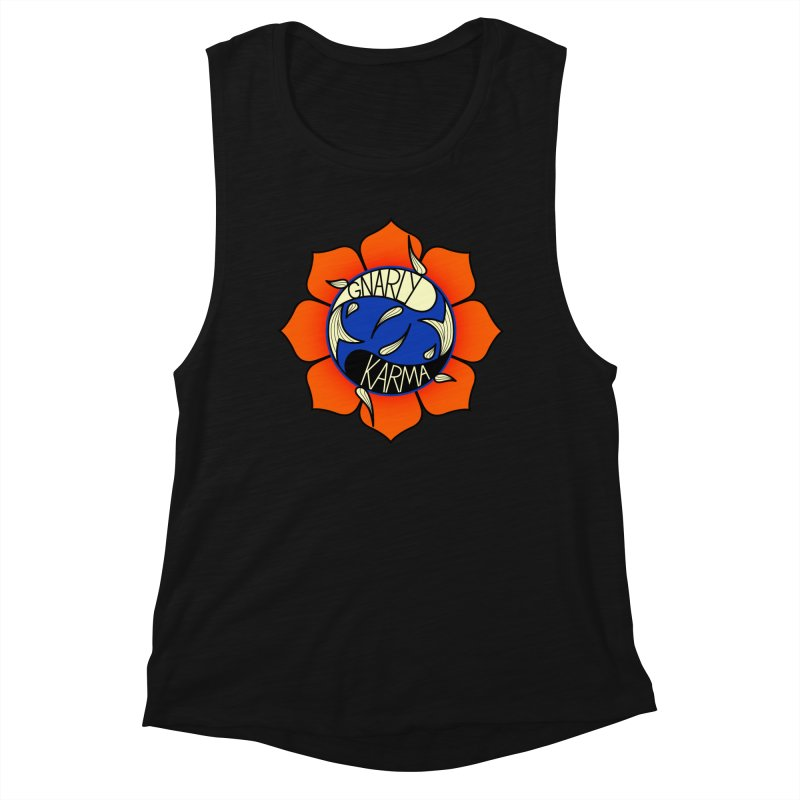 Gnarly Logo on Everyday Shirts Women's Muscle Tank by Gnarly Karma's Merch Shop