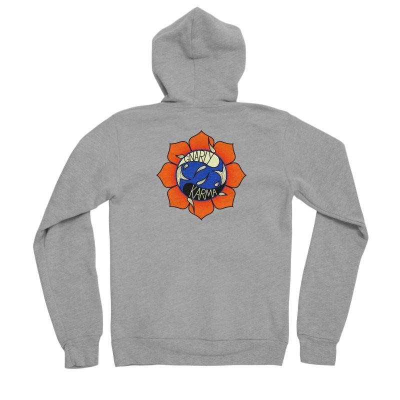 Gnarly Logo on Sweatshirts & Hoodies Women's Sponge Fleece Zip-Up Hoody by Gnarly Karma's Merch Shop