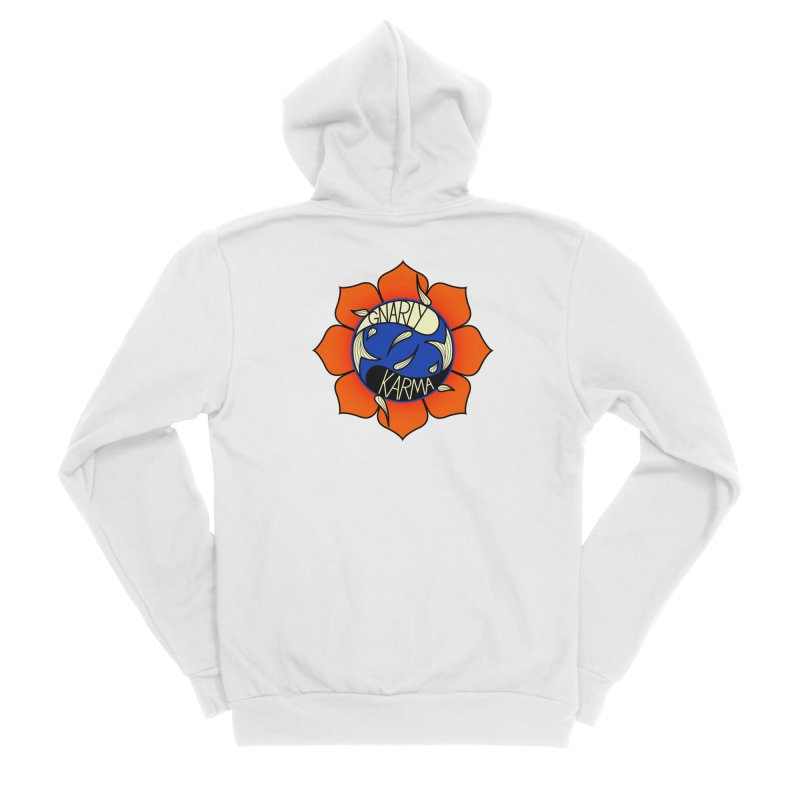 Gnarly Logo on Sweatshirts & Hoodies Women's Sponge Fleece Zip-Up Hoody by Gnarly Karma's Merch Shop