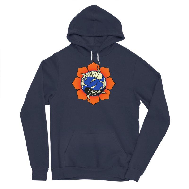 Gnarly Logo on Sweatshirts & Hoodies Women's Sponge Fleece Pullover Hoody by Gnarly Karma's Merch Shop
