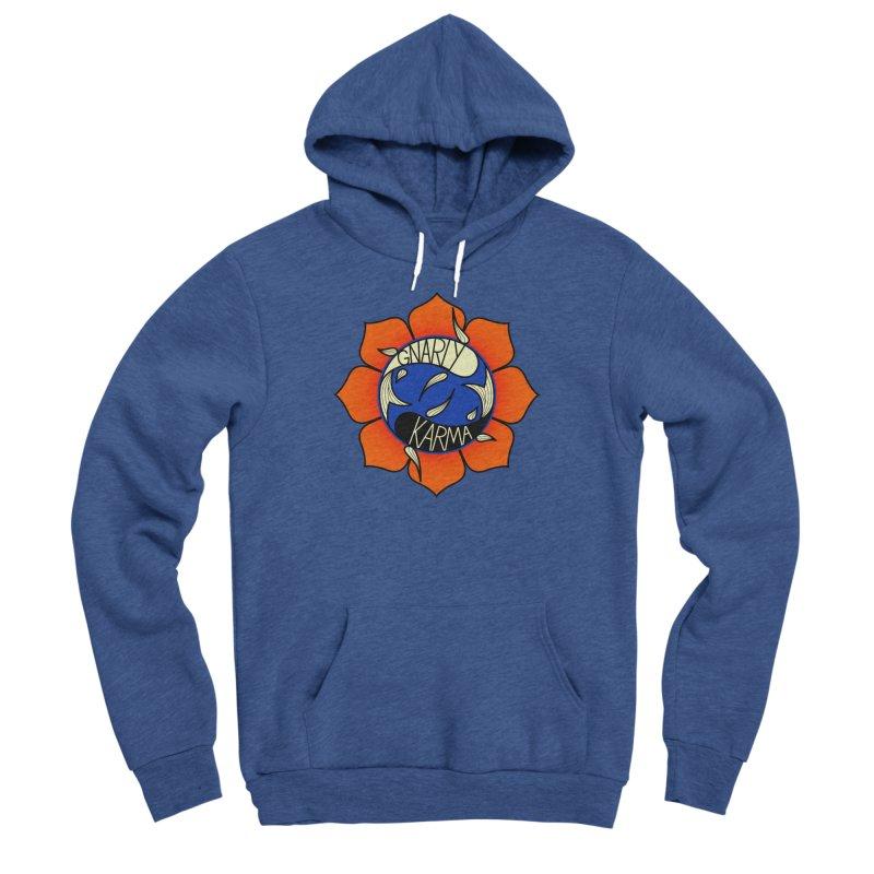 Gnarly Logo on Sweatshirts & Hoodies Men's Sponge Fleece Pullover Hoody by Gnarly Karma's Merch Shop
